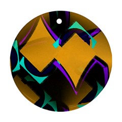 Geometric Gradient Psychedelic Ornament (round)