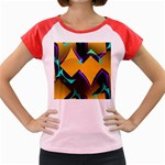 Geometric Gradient Psychedelic Women s Cap Sleeve T-Shirt Front