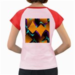 Geometric Gradient Psychedelic Women s Cap Sleeve T-Shirt Back