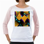 Geometric Gradient Psychedelic Girly Raglan Front