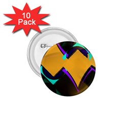 Geometric Gradient Psychedelic 1 75  Buttons (10 Pack)