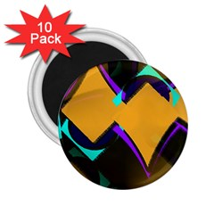 Geometric Gradient Psychedelic 2 25  Magnets (10 Pack)