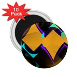 Geometric Gradient Psychedelic 2.25  Magnets (10 pack)  Front