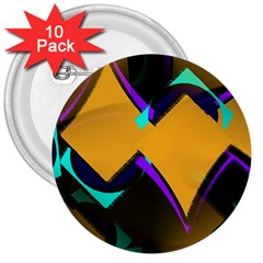 Geometric Gradient Psychedelic 3  Buttons (10 Pack)