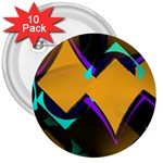 Geometric Gradient Psychedelic 3  Buttons (10 pack)  Front