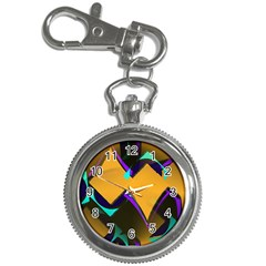 Geometric Gradient Psychedelic Key Chain Watches