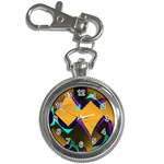 Geometric Gradient Psychedelic Key Chain Watches Front