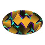 Geometric Gradient Psychedelic Oval Magnet Front
