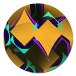 Geometric Gradient Psychedelic Magnet 5  (Round) Front