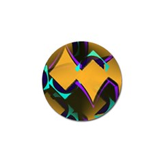 Geometric Gradient Psychedelic Golf Ball Marker (10 Pack)