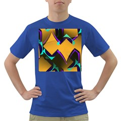 Geometric Gradient Psychedelic Dark T Shirt
