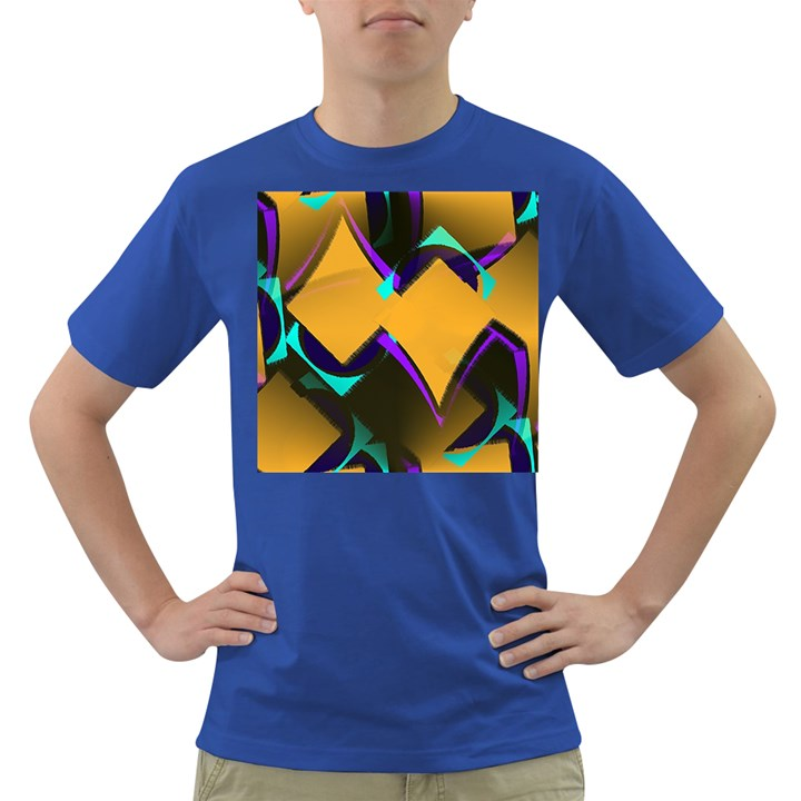 Geometric Gradient Psychedelic Dark T-Shirt