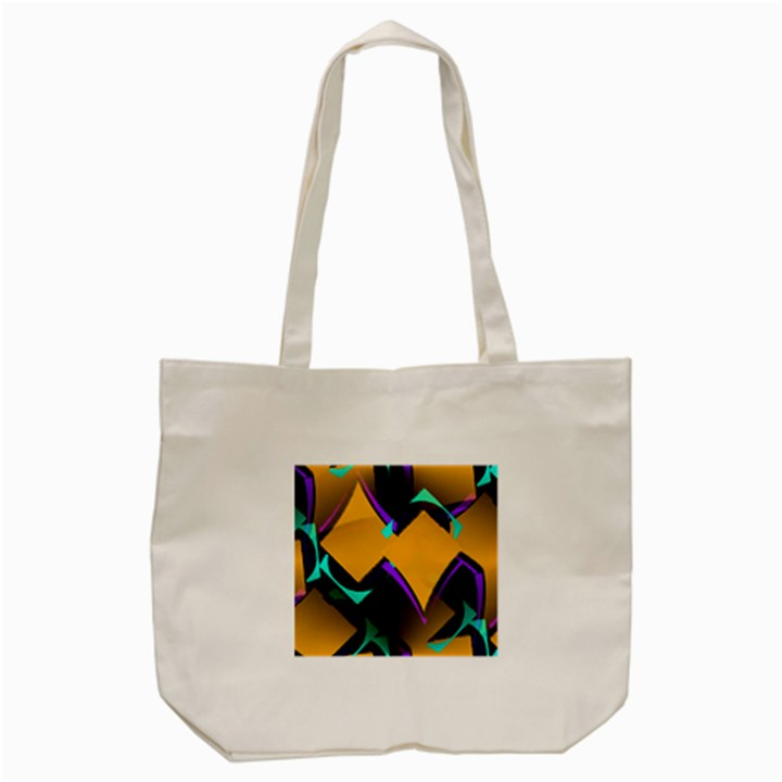 Geometric Gradient Psychedelic Tote Bag (Cream)