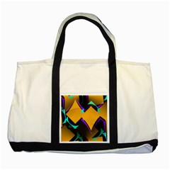 Geometric Gradient Psychedelic Two Tone Tote Bag