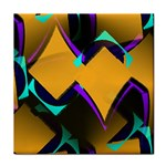 Geometric Gradient Psychedelic Face Towel Front