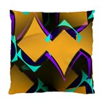 Geometric Gradient Psychedelic Standard Cushion Case (One Side) Front