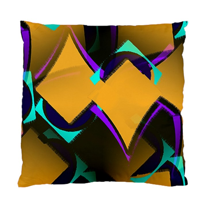 Geometric Gradient Psychedelic Standard Cushion Case (One Side)