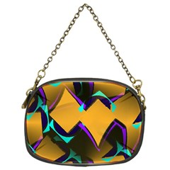 Geometric Gradient Psychedelic Chain Purse (two Sides)