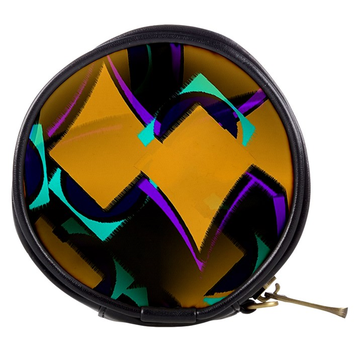 Geometric Gradient Psychedelic Mini Makeup Bag