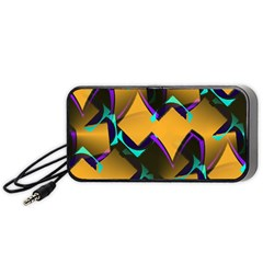 Geometric Gradient Psychedelic Portable Speaker