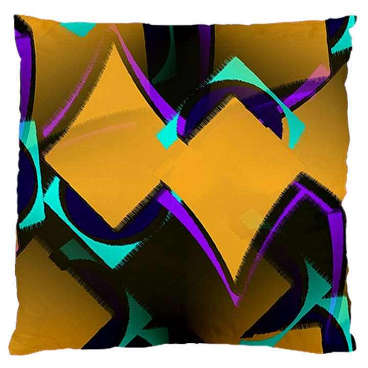Geometric Gradient Psychedelic Standard Flano Cushion Case (Two Sides)