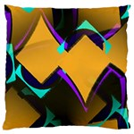 Geometric Gradient Psychedelic Standard Flano Cushion Case (Two Sides) Back