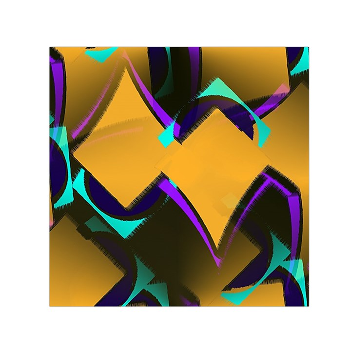 Geometric Gradient Psychedelic Small Satin Scarf (Square)