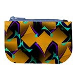 Geometric Gradient Psychedelic Large Coin Purse Front