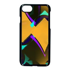 Geometric Gradient Psychedelic Iphone 7 Seamless Case (black)