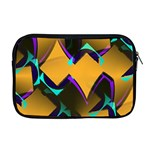 Geometric Gradient Psychedelic Apple MacBook Pro 17  Zipper Case Front