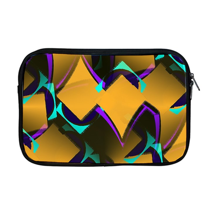 Geometric Gradient Psychedelic Apple MacBook Pro 17  Zipper Case