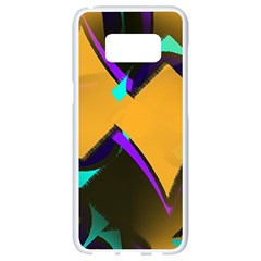 Geometric Gradient Psychedelic Samsung Galaxy S8 White Seamless Case by HermanTelo