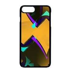 Geometric Gradient Psychedelic Iphone 8 Plus Seamless Case (black)
