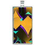 Geometric Gradient Psychedelic Rectangle Necklace Front