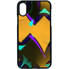 Geometric Gradient Psychedelic Iphone Xs Seamless Case (black)