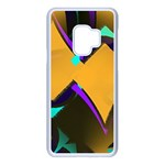 Geometric Gradient Psychedelic Samsung Galaxy S9 Seamless Case(White) Front