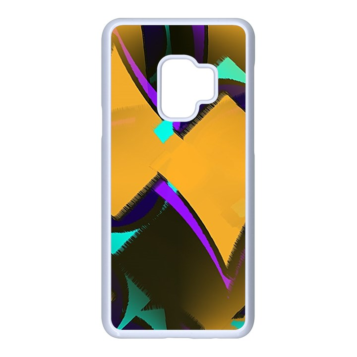 Geometric Gradient Psychedelic Samsung Galaxy S9 Seamless Case(White)