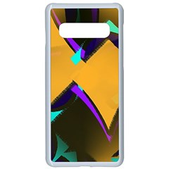 Geometric Gradient Psychedelic Samsung Galaxy S10 Seamless Case(white)