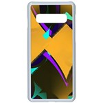 Geometric Gradient Psychedelic Samsung Galaxy S10 Seamless Case(White) Front