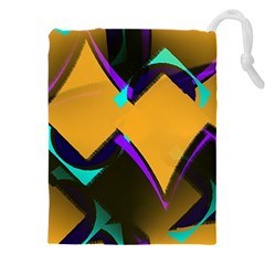 Geometric Gradient Psychedelic Drawstring Pouch (4xl)