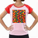 Background Colorful Abstract Women s Cap Sleeve T-Shirt Front