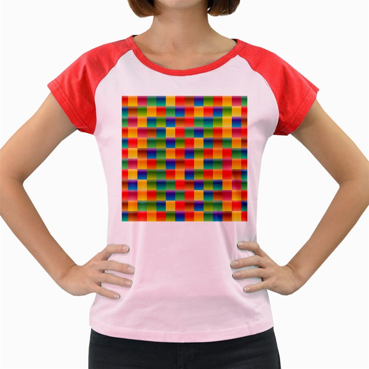 Background Colorful Abstract Women s Cap Sleeve T-Shirt