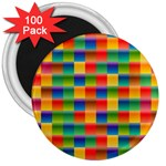 Background Colorful Abstract 3  Magnets (100 pack) Front