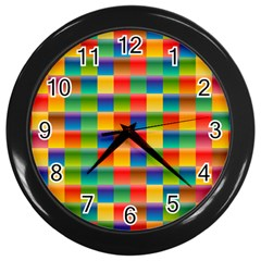 Background Colorful Abstract Wall Clock (black)