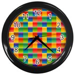 Background Colorful Abstract Wall Clock (Black) Front