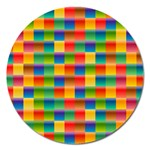 Background Colorful Abstract Magnet 5  (Round) Front