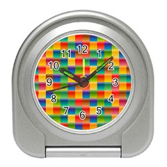 Background Colorful Abstract Travel Alarm Clock