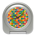Background Colorful Abstract Travel Alarm Clock Front