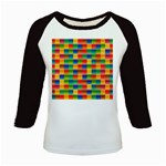 Background Colorful Abstract Kids Baseball Jerseys Front