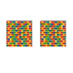 Background Colorful Abstract Cufflinks (Square) Front(Pair)